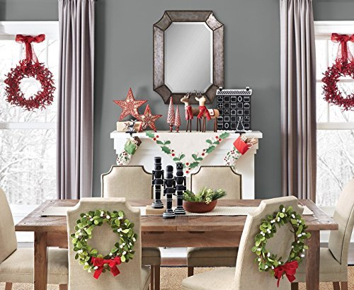 Martha Stewart Living Holly And Berries Christmas Mantel Runner Swag