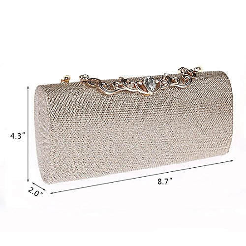 ... YYW Evening Bag - Cartera de mano para mujer Red ...