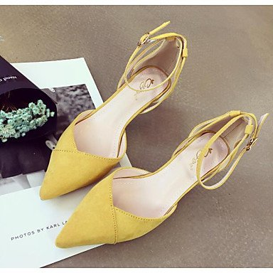 RUGAI-UE Moda de Verano Mujer sandalias casuales zapatos de tacones PU Confort pasear al aire libre,Blue,US8 / UE39 / UK6 / CN39 Black