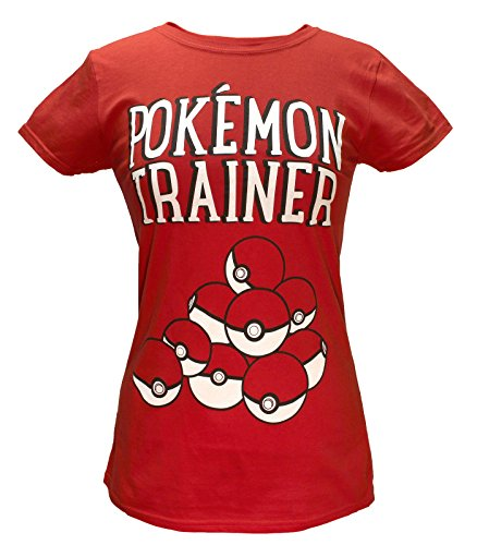 Price comparison product image Bioworld Pokemon Juniors Pokeball Trainer Red Shirt Small