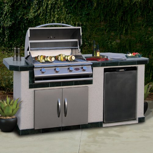Outdoor Kitchen Cost Ultimate Pricing Guide: Cal Flame LBK710 Outdoor BBQ Island With 4-Burner Grill
