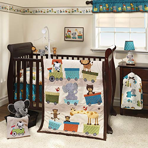 Bedtime Originals Choo Choo Safari Animal Train 7-Piece Baby Crib Bedding Set