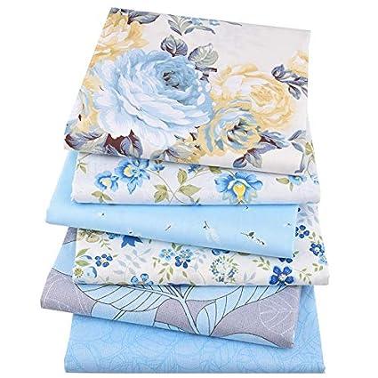 Amazon Com Set 6pcs 16x19in Blue Floral Series Cotton