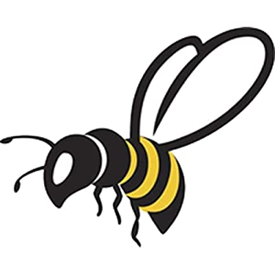 """Pretty Assortment of Bumble Bees Cartoon Art Vinyl Decal Sticker (2"""" Wide, Bee #4): Arts, Crafts & Sewing"""