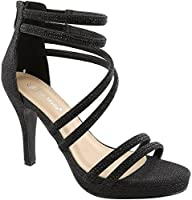Top Moda Dressy Formal Sandals High Heel Ankle Strap Open Toe Sandals