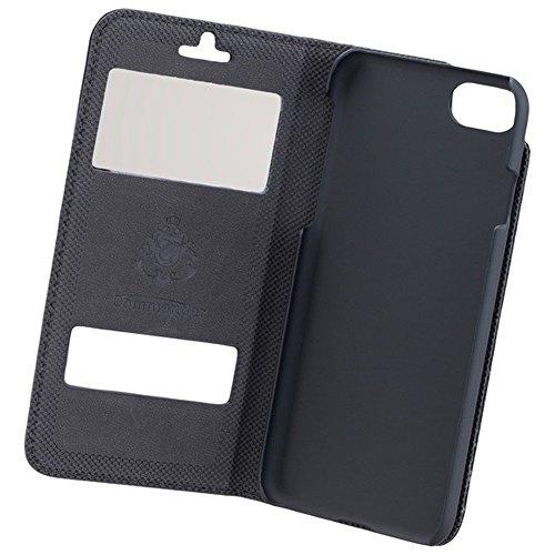 COMMANDER Tasche DOUBLE WINDOW Black für Apple iPhone 7 / 8 inkl. Reinigungstuch iMoBi
