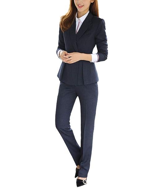 Amazon.com: yunclos negocio Slim Fit traje de mujer 3 piezas ...