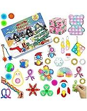 HIMLUS Fidget Advent Calendar 2021, 24DAYS Christmas Countdown Calendar, Sensory Push Pop-On-It Fidget Pack Gift for Kids