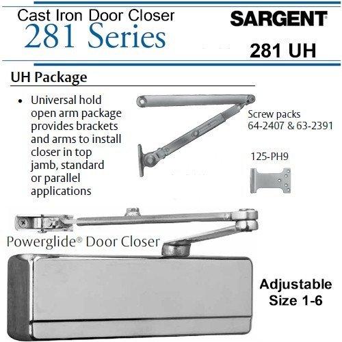 SARGENT 281-UH-TB-EN UNIVERSAL HOLDER ARM DOOR CLOSER: ALUMINUM by Sargent