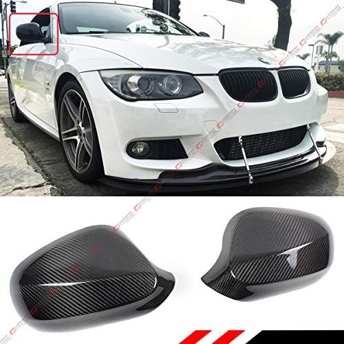 Cuztom Tuning Fits for 2010-2013 BMW E92 E93 LCI 2 Door 3 Series 328i 325i 335i Real Carbon Fiber Side View Mirror Cap Cover