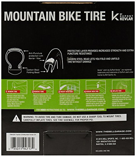 Bell Traction Mountain Tire, 29'' x 2.10'', Black by Bell (Image #3)