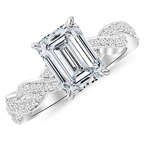 0.75 Ct Emerald Cut Diamond - 1