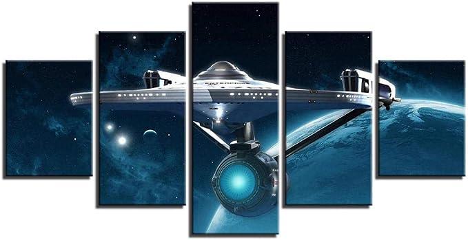 CJFHBVUQ Cuadro sobre Lienzo 5 Unidades Nave Espacial De ...