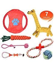 Rimila Puppy Dog Chew Toys Teething Training, Giraffe Rope Toy Rubber Interactive Toy Gift Set for Small and Medium Dogs.