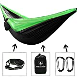 pys Double Camping Hammock for Backpacking,Two Person Size Parachute Suspension Hammock with Multi Colors Available, Lightweight and Compact,Portable Ideal for Outdoor Hiking