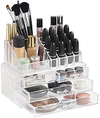 OZSTOCK® Cosmetic 4 Drawer Clear Acrylic Box Organizer Storage Jewellery  Makeup Holder