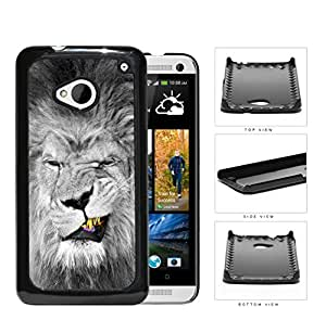 Lion With Gold Teeth Smirking Hard Plastic Snap On Cell Phone Case HTC One M7 by lolosakes