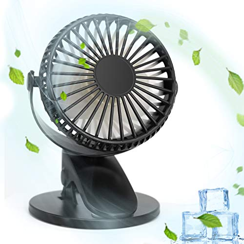 (Electric Car Fan,  Car Cooling Fan 3 Speed Cooling Air Circulator - 360 Degree Rotatable Auto Fan for Home Office Car Outdoor Travel)