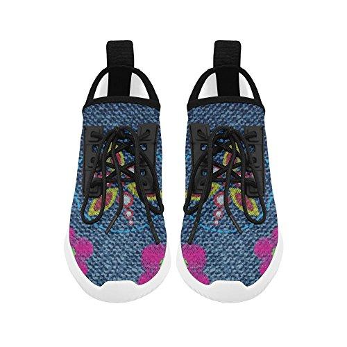 Impronte Di Musica Impronte Digitali Delfino Ultra Leggero Scarpe Da Corsa Per Uomo Fiore Jeans 1