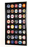 30 puck display case - 40 Hockey Puck Display Case Cabinet Holder Rack 98% UV (Black Finish)