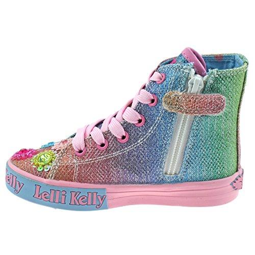 32 Kelly GX02 UK Boots Baseball 13 Rainbow Millesoli Glitter Multi LK5096 Lelli zqEdd