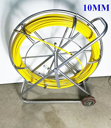 Fish Tape Fiberglass Wire Cable Running Rod Duct Rodder Fishtape Puller 10mm by Techtongda Fishtape