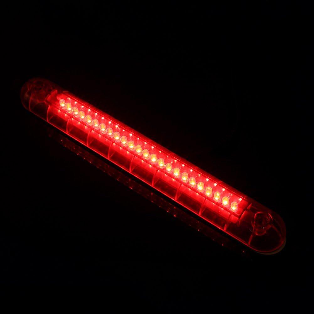 Red Universal 3rd Brake Light 24 LED Brake Stop 3RD Tail Light Lamp for SUVs or trucks12V Rear Roof Center Led Third 3rd Brake Cargo Light Assembly