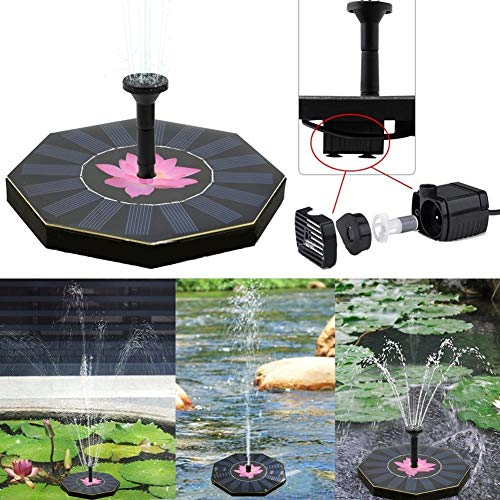 Watering Kits – Solar Power Floating Fountain Panel Kit Garden Water Pump Watering Wide Irrigation Pumps 200l H 8v – Flower Timer Pots Battery For With Gardens