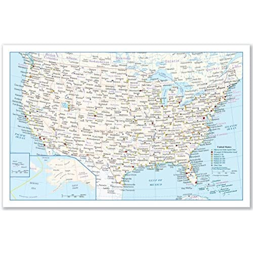 2-Sided Sealed Lamination 2-Sided Color Print World Map Small Poster Size 11.5 x 17.5 inches 1 World Map