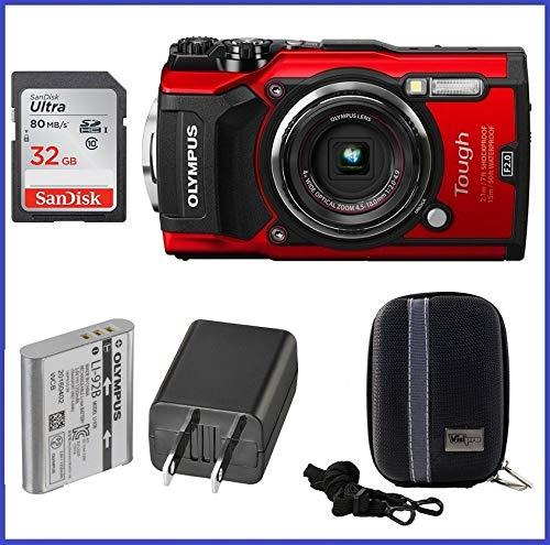 Olympus Stylus Tough TG-5 Digital Camera 32GB Bundle (Red) - Olympus Stylus Digital