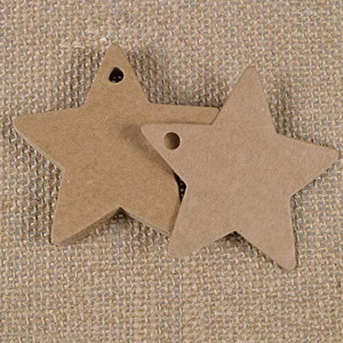 Cards Invitations - 100pcs Star Kraft Paper Label Wedding Christmas Halloween Party Favor Gift Card Luggage Tags White - 3d Paper Invitations You Black Card Tag Paper Card Postcard Place Card ()