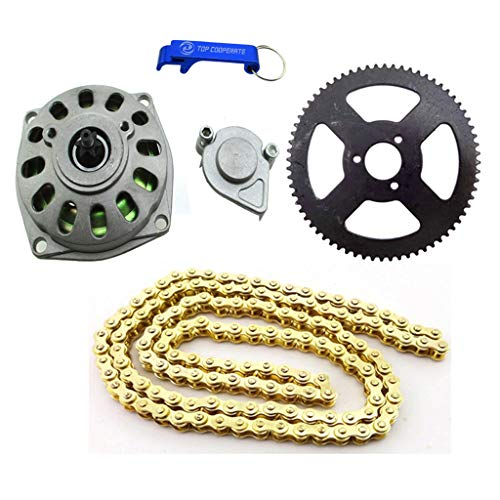 (TC-Motor 6 Tooth Clutch Drum Gear Box 68 Tooth Rear Chain Sprocket 25H Chain (136 Links) For 2 Stroke 47cc 49cc Minimoto Pocket Bike 4 Wheeler Quad ATV)