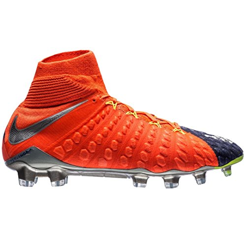 53403acfc85 Nike Men s Hypervenom Phantom III DF FG Soccer Cleat - (Deep Royal  Blue Chrome Total Crimson) (9)