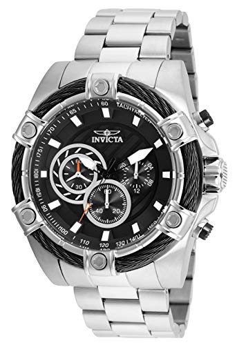 Invicta Men's Bolt Quartz Watch with Stainless-Steel Strap, Silver, 1 (Model: 25512)
