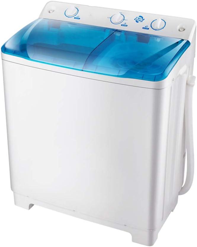 lavadora Mini BañEra Portable, Semi-AutomáTico De La MáQuina De Lavar Doble CañóN Doble Hogar Cilindro Grande Capacidad De La MáQuina De Lavado Manual De