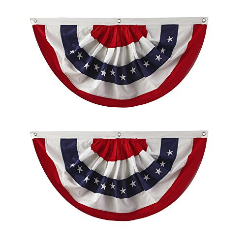 (Nantucket Home Traditional Red, White and Blue Buntings, 40-Inch x 20-Inch, Set of 2)