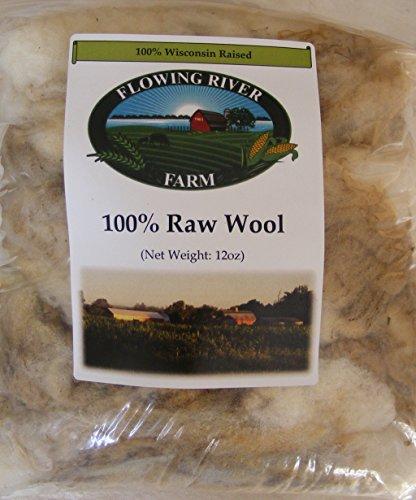 Raw Sheep Wool - 12oz.