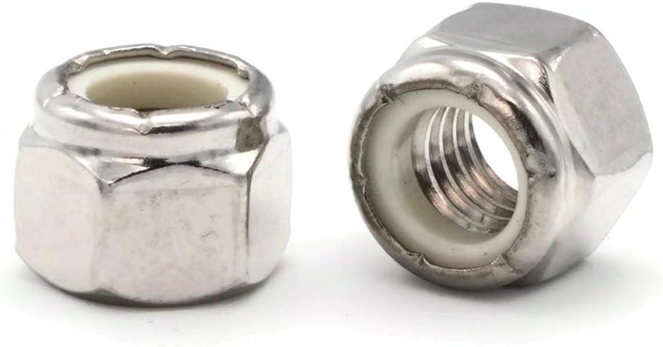 "Stainless Steel 100 Nylock 3//8/""-16 Nylon Insert Lock Nuts"