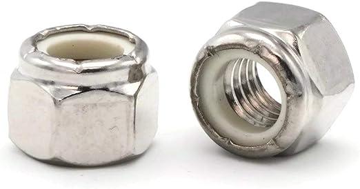 Qty 100 Stainless Steel Nylon Insert Lock Hex Nut UNC 1//4-20