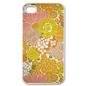Lmf DIY phone caseRetro Floral Flower ZLB536582 Personalized Case for Iphone 4,4S, Iphone 4,4S CaseLmf DIY phone case