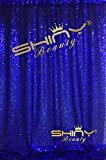 ShinyBeauty 4FTX6FT-Royal Blue-SEQUIN BACKDROP Shimmer Holiday Fabric Backdrops, Sequin Photography, Photo Booth Curtains (Royal Blue)