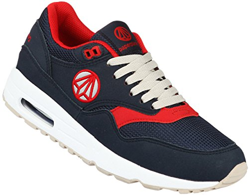 Paperplanes-1317 Unisex Fashion Air Cushion Essential Running Sneakers Shoes Navy Red HtDKeh7N