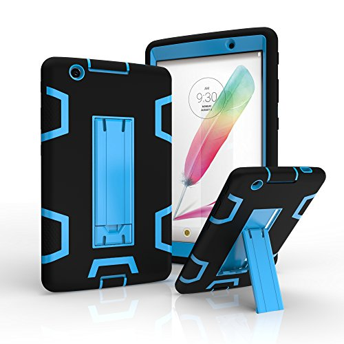 LG G Pad X 8.0 V521 Case, SUMOON Heavy Duty Rugged Shockproof Hybrid Three Layer Case Full Protection Cover with Kickstand For LG G Pad X 8.0 V521/G Pad III ()