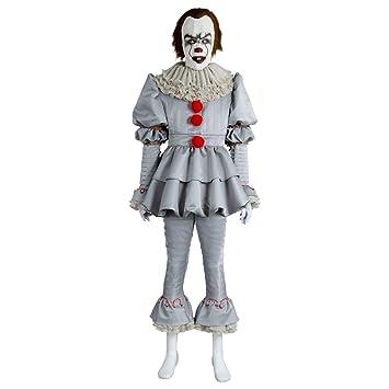 Horror Clown Kostum Joker Narr Cosplay Deluxe Outfit Fur Halloween