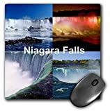 3dRose LLC 8 x 8 x 0.25 Inches Niagara Falls Collage Mouse Pad (mp_21724_1)