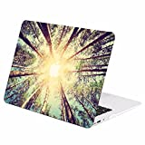 TOP CASE - Autumn Spectrum Graphic Rubberized Hard Case Cover Compatible with Apple MacBook Air 13'' Model: A1369 / A1466 – Autumn Forest