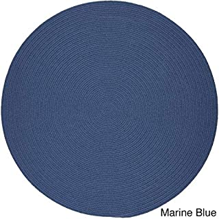 product image for Rhody Rug Venice Indoor/Outdoor Braided Rug (8' Round) Marina Blue