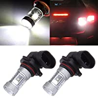 cciyu 9005 H10 9140 LED Fog Light Bulbs with Projector 9145 9050 6-3535-SMD High Power Light Replacement fit for Fog Driving Light DRL Running Light, 2pcs White