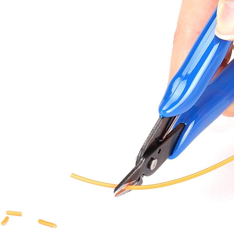 YGSAT 2 Pi/èces Pinces Coupantes lat/érales Cisailles Coupe-Fil Cisailles Outil R/éparation Pinces Coupantes de C/ôt/é pour lindustrie /électronique Bricolage et Traitement des Bijoux Mod/élisme