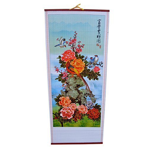- Chinese Feng Shui Wealth and Auspicious Wall Scroll Picture W Free Fengshuiale Red String Bracelet J2010